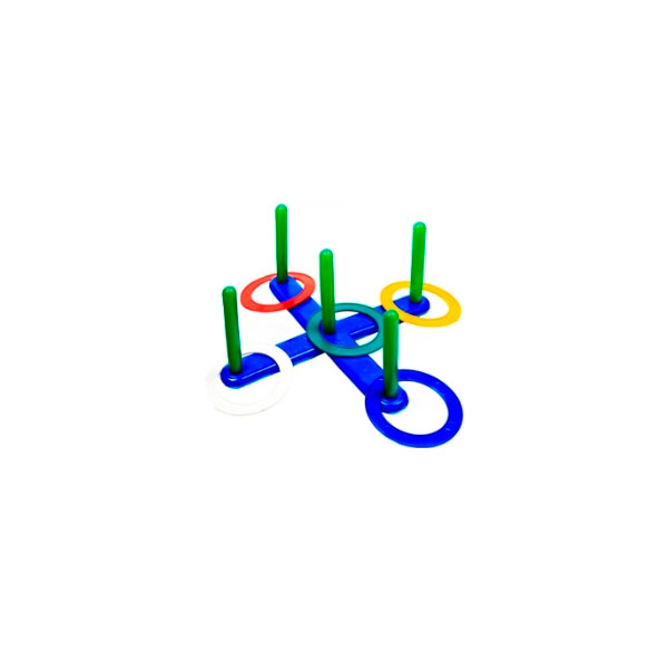 Игра уличная Счастливое детство Кольцеброс с пятью столбиками 5128VT