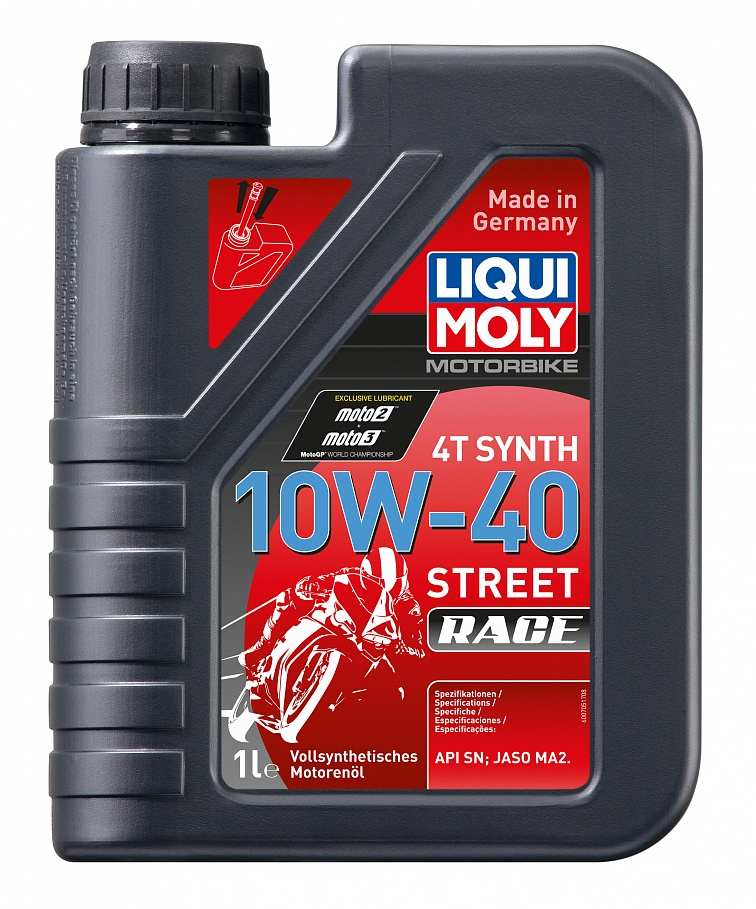 Масло моторное Liqui moly Motorbike 4T Synth Street Race 10W-40 1л фото