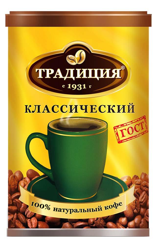 Кофе растворимый Традиция Русский Продукт гранулированный классический 95 г