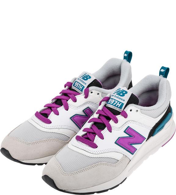 Женские кроссовки New Balance CW997HNA/B белые/серые/фиолетовые/бирюзовые/черные 37