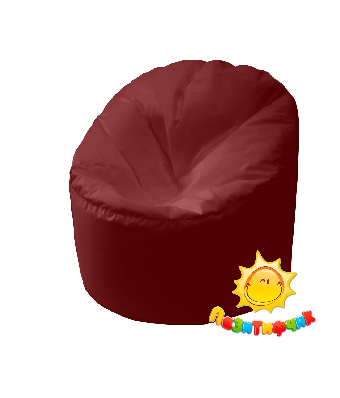 Кресло-мешок Pazitif Пенек Пазитифчик, размер L, оксфорд, бордовый фото