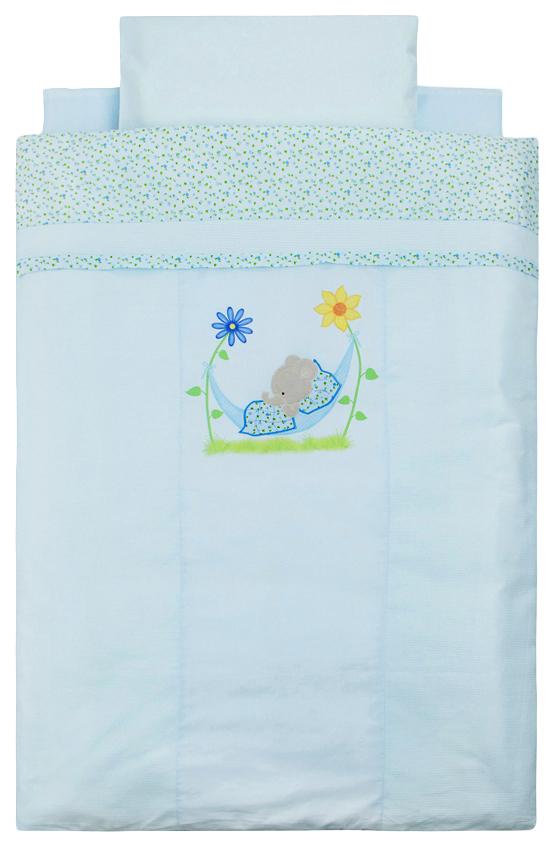 ЗОЛОТОЙ ГУСЬ Комплект в кроватку Сладкий сон (цвет: голубой, 7 предметов) 1092