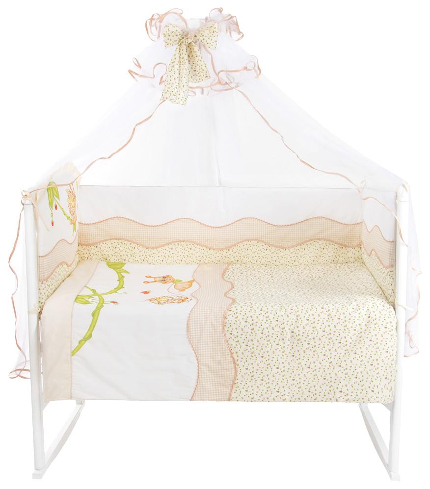 ЗОЛОТОЙ ГУСЬ Комплект в кроватку Улыбка (цвет: бежевый, 7 предметов) 1593
