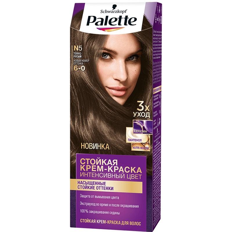 Краска для волос Palette Интенсивный цвет, тон N5 Темно-русый