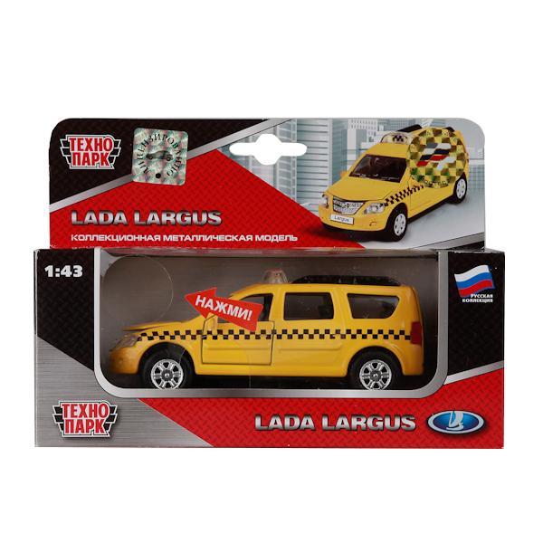 Купить Машина Технопарк инерционная, металлическая Лада ларгус такси 1:43 со светом и звуком,