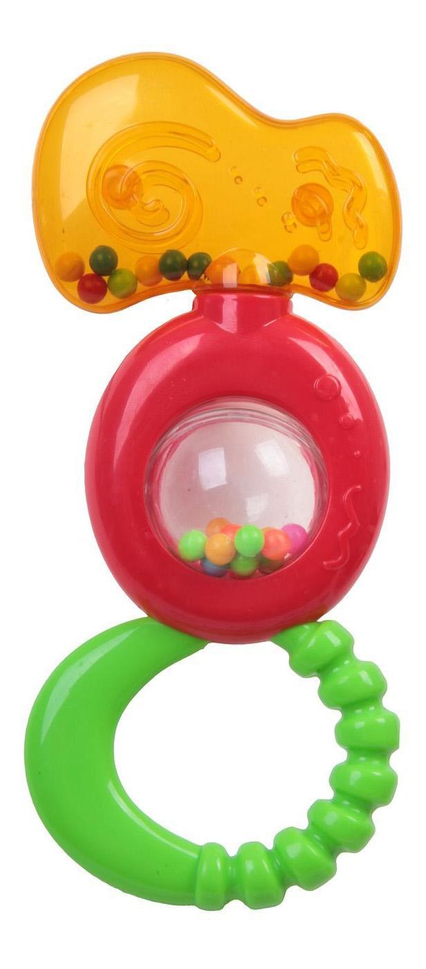Купить MS0011, Погремушка пластиковая, с прорезывателем и шариком внутри Bondibon 22, 4х16, 5 см,