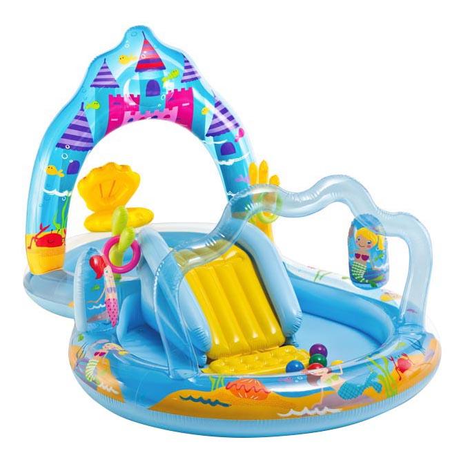 Купить Intex игровой центр 279х160х140см замок русалки с горкой, Детские бассейны