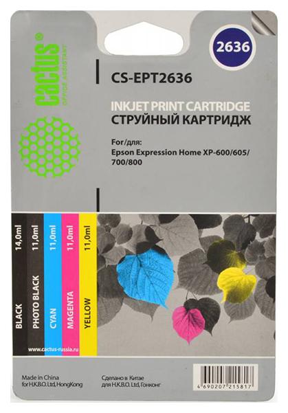 Картридж для струйного принтера Cactus CS-EPT2636 цветной