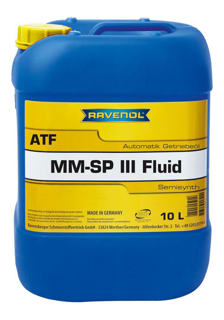 Трансмиссионное масло RAVENOL ATF MM SP-III Fluid 10л 1212103-010-01-999