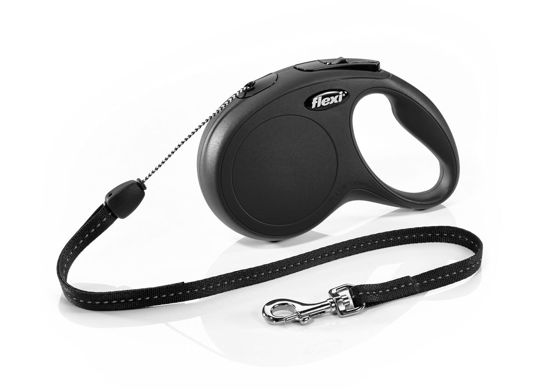 Поводок-рулетка flexi New Classic M ,до 20 кг, трос 8 м, черная