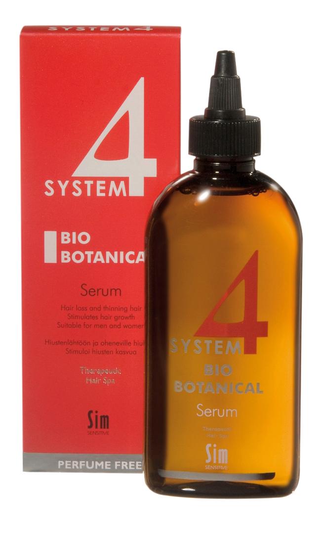 Купить Сыворотка для волос Sim Sensitive Био Ботаническая System 4 для роста волос 200 мл, system 4 Био Ботаническая для роста волос 200 мл
