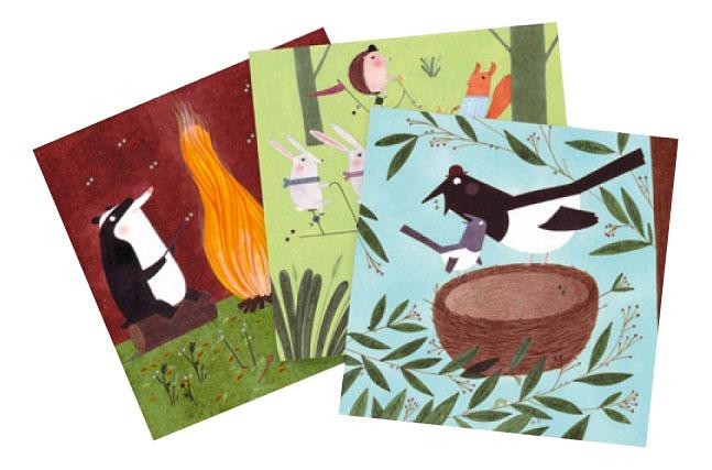 Набор для творчества Djeco Учимся шить Приключение в лесу