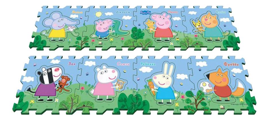 Купить Пеппа и друзья, Пазл Peppa Pig Коврик-Пазл Peppa Pig Пеппа И Друзья 8 Сегментов, Пазлы