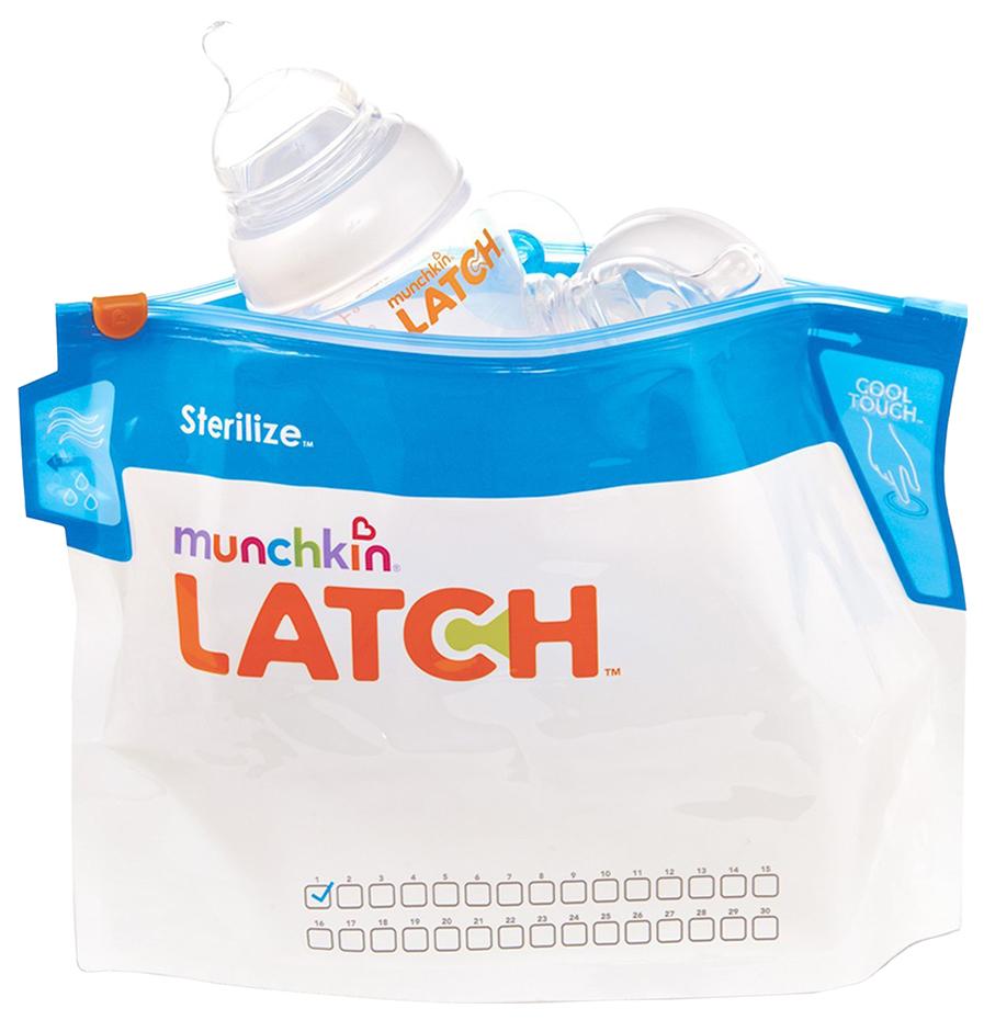 Купить Стерилизатор для СВЧ Munchkin Latch Sterilise Пакеты для стерилизации 6 шт,