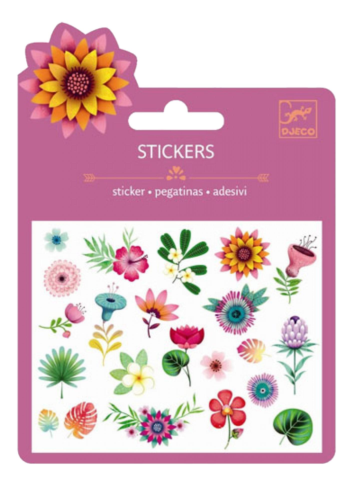 Наклейка декоративная для детской комнаты Djeco Тропические цветы