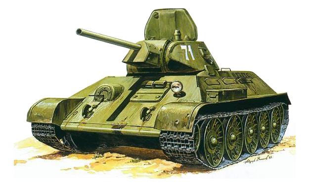 Модель для сборки Zvezda 1:35 Советский танк Т-34/76 1942 г.
