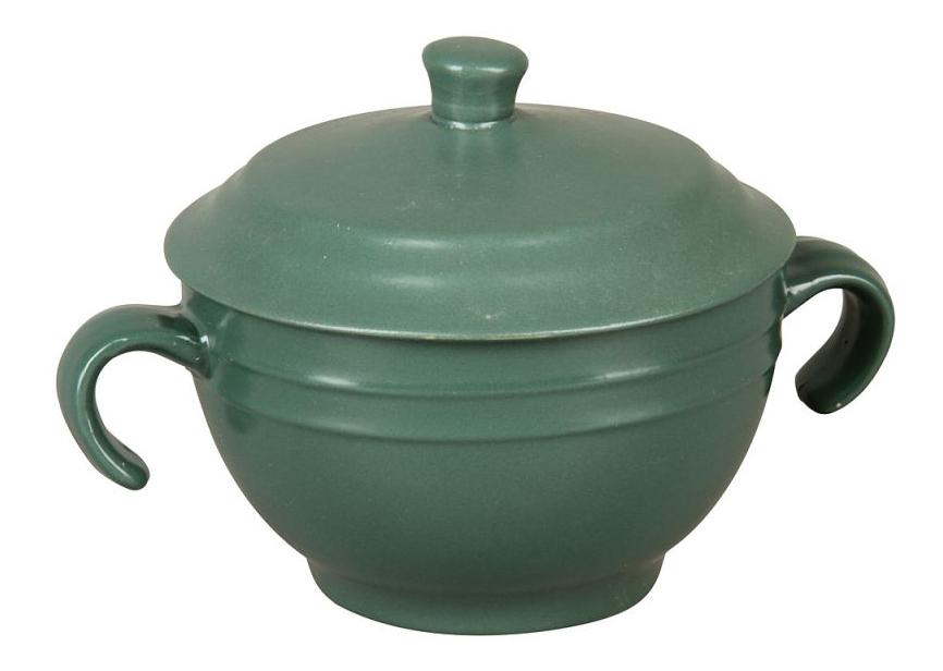 Супница с крышкой (зеленая)