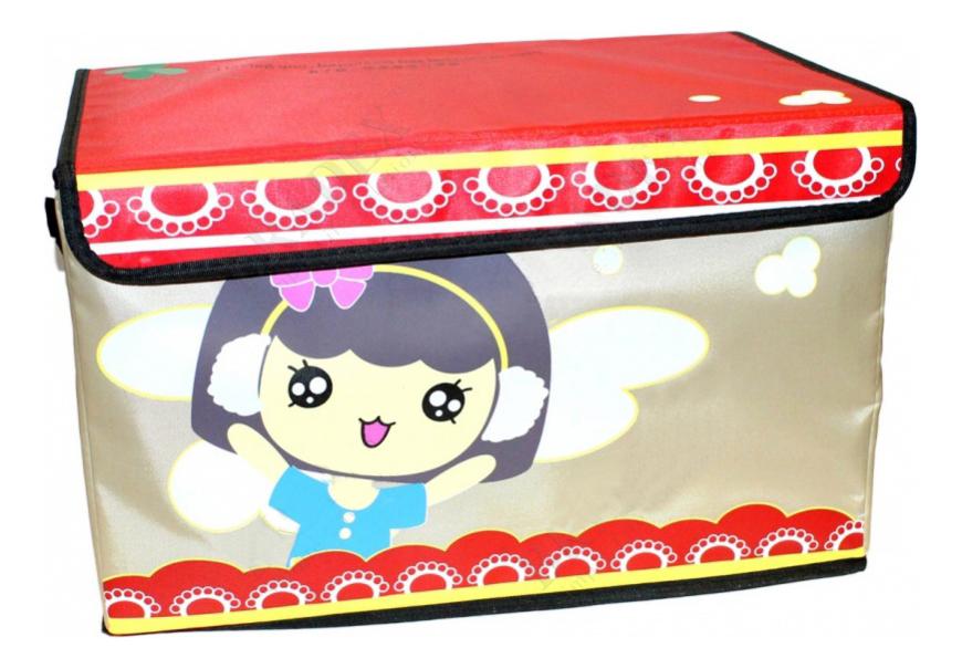 """Ящик для хранения игрушек BRADEX """"ВЕСЕЛЫЕ ОБЛАКА"""" прямоугольный"""