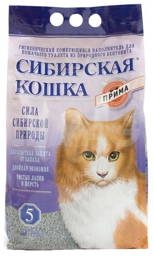 Наполнитель Сибирская кошка Прима комкующийся 5 л без запаха