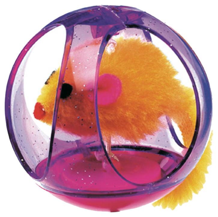 Мяч для кошек Ferplast, Пластик, Плюш, 6,5x6,5x6,5см