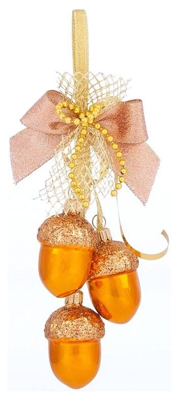 Елочная игрушка Елочка Осенняя золотая C1101 фото