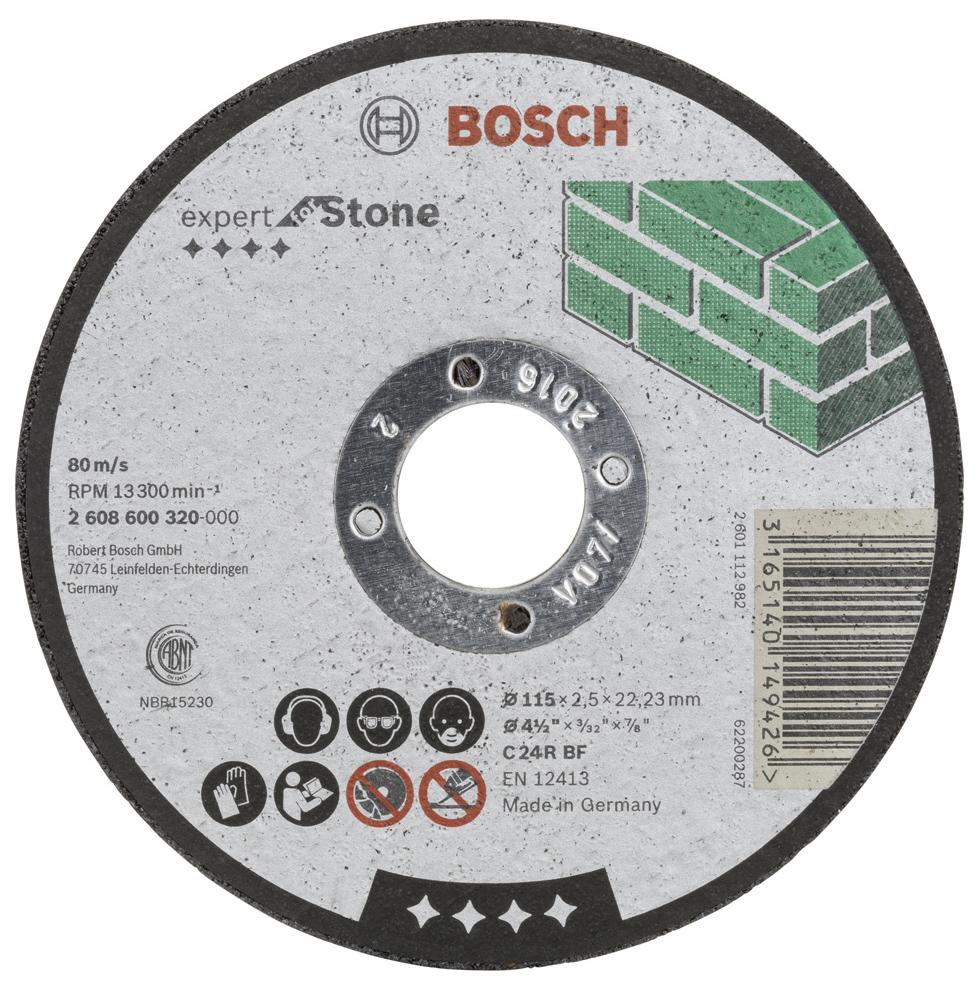 Отрезной круг Bosch КАМЕНЬ 115Х2,5 мм 2608600320