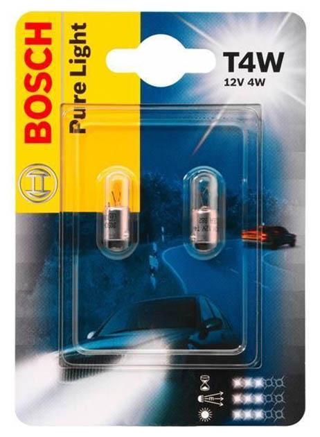 Лампа Bosch 4W T4W 1987302207