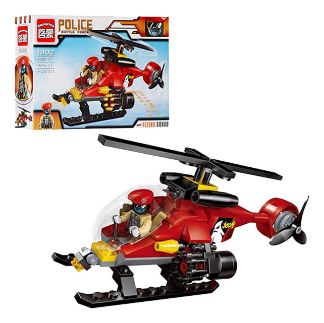 Конструктор пластиковый Brick Вертолет с фигуркой фото