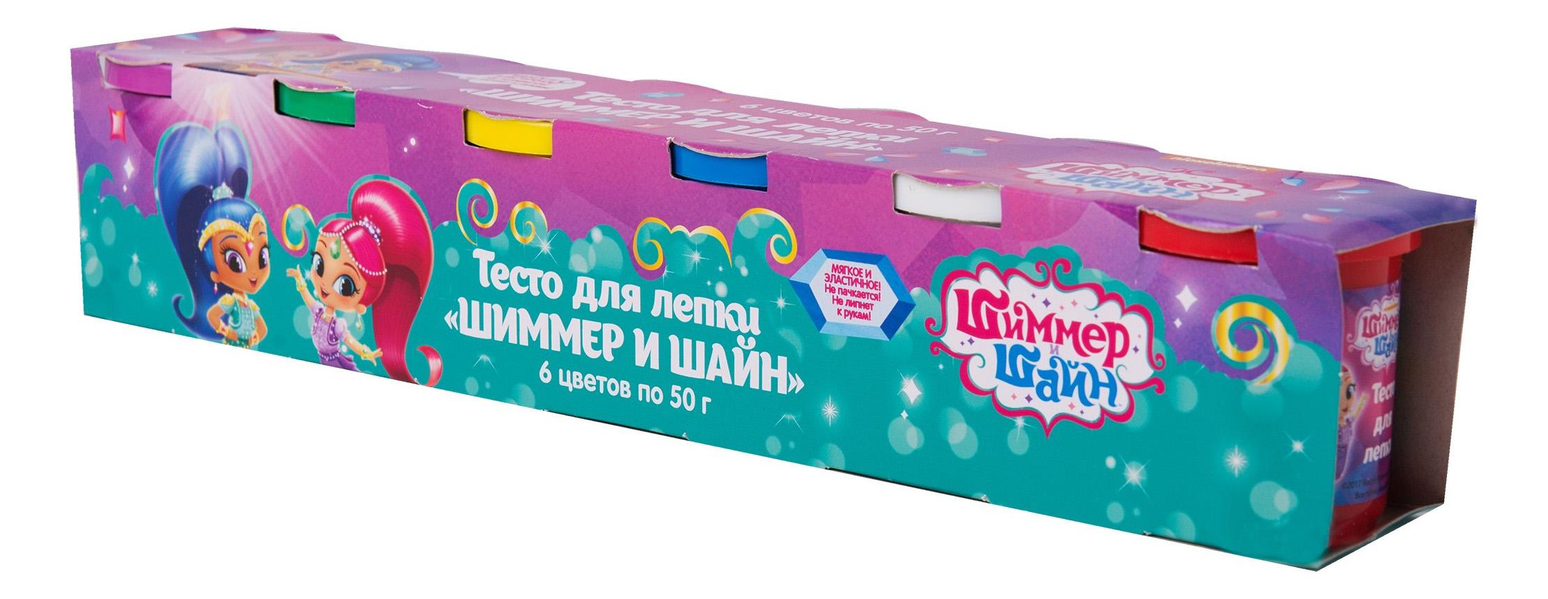 Купить Набор для лепки из пластилина Shimmer and Shine 6 цветов, Росмэн, Лепка