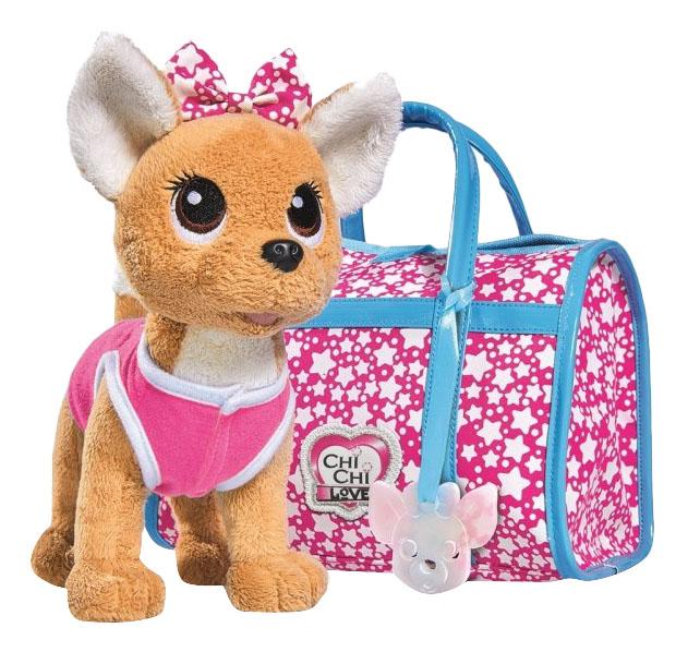 Купить Мягкая игрушка Simba плюшевая Собачка Звездный стиль с сумочкой светится в темноте, Интерактивные мягкие игрушки