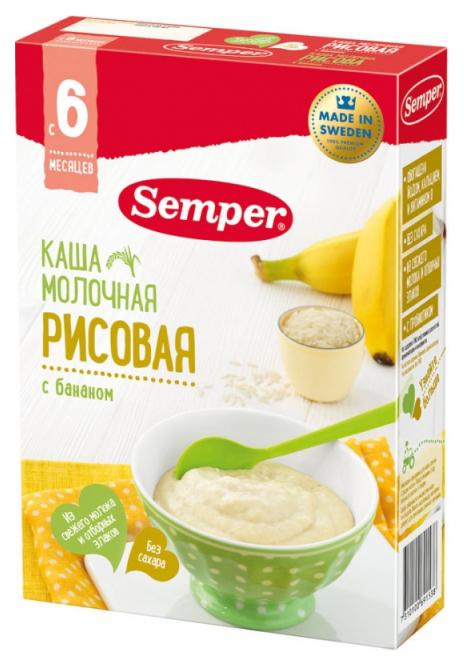 Молочная каша Semper Рисовая с бананом c 6 мес 200 гр