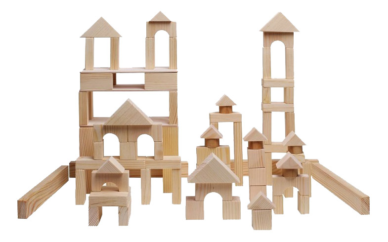 Купить Деревянный конструктор Paremo 85 деталей неокрашенный PE117-2, Деревянные конструкторы