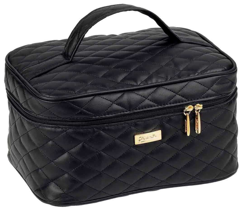Косметичка средняя Janeke Black Quilted Travel Bag Medium