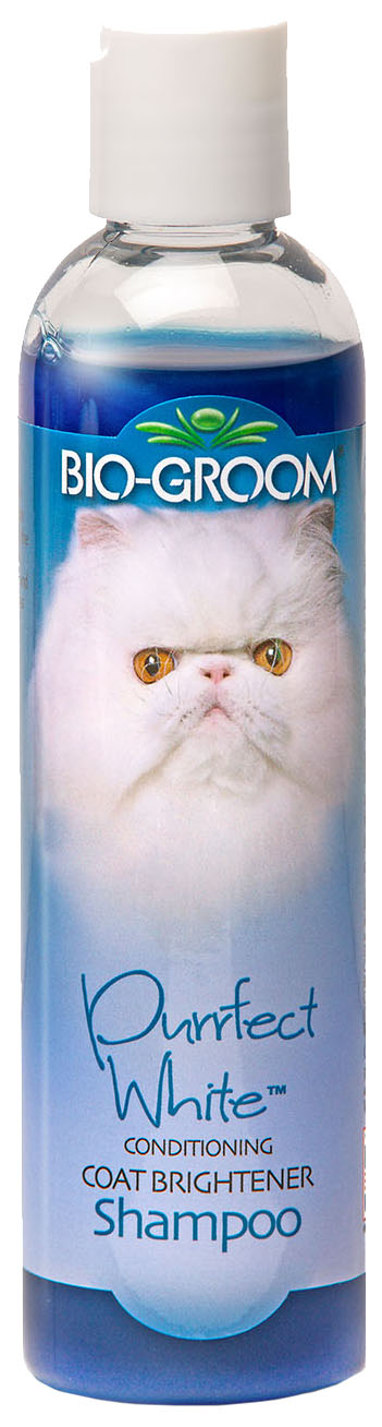 Шампунь для кошек Bio-Groom Purrfect White для повышения яркости окраса, 355 мл