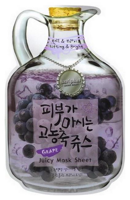 Купить Маска Baviphat Lifting & Bright с экстрактом винограда, 23 г, Grape Juicy Mask Sheet (Lifting & Bright)