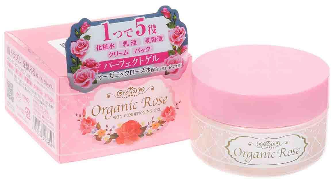 Купить Гель-кондиционер для лица Meishoku Organic Rose с экстрактом дамасской розы 90 г, Гель-кондиционер с экстрактом розы