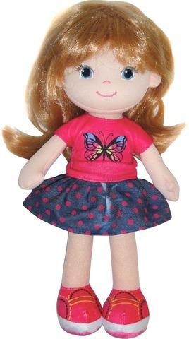 Кукла Creation Manufactory Блондинка в синей юбочке мягконабивная, 32 см фото
