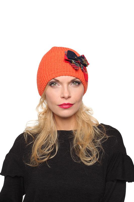 Шапка женская Lak Miss HANI 7563 оранжевая 56-58