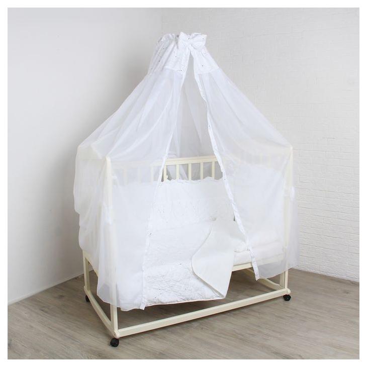Комплект в кроватку Серебряные сны, 6 предметов, цвет: белый 1611