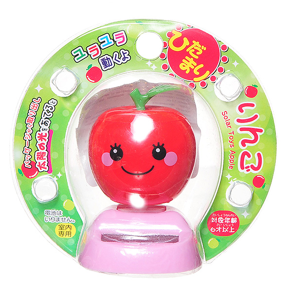 Игрушка JAPAN PEARL PROCESSING CORPORATION Яблочко на солнечных батареях