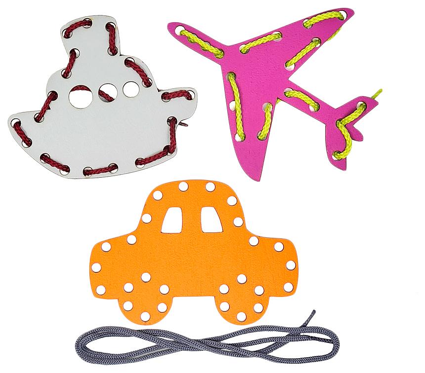 Купить Игра-шнурочки Транспорт Smile Decor, Шнуровки для детей