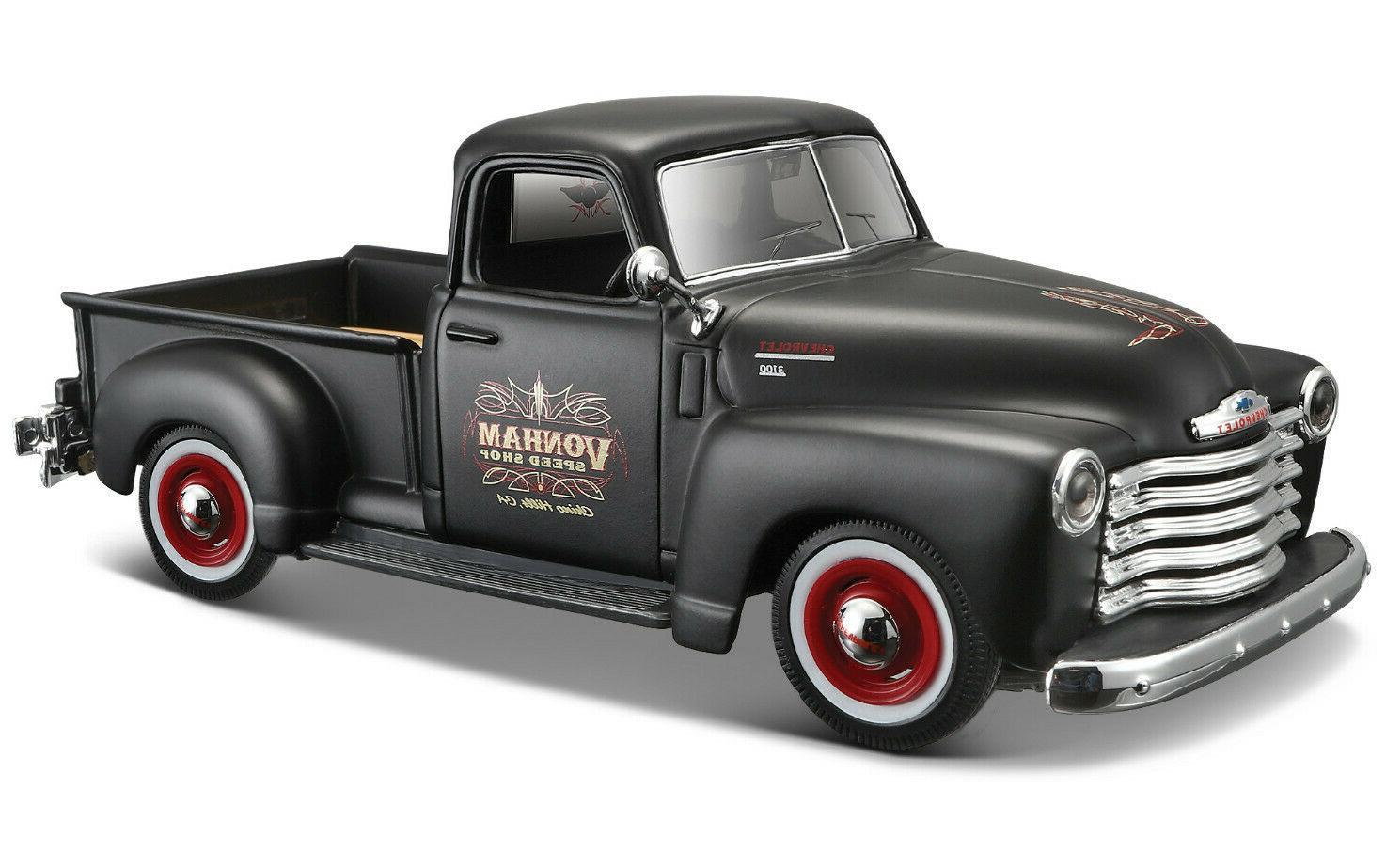 Купить Машина Maisto 1950 Chevrolet 3100 Pickup 1:24, черная, Игрушечные машинки