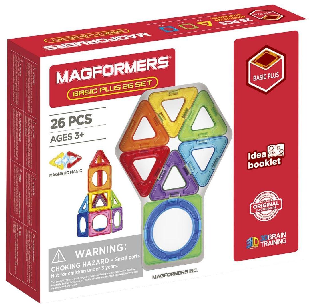 Купить Магнитный конструктор Basic Plus 26 Set , Magformers,