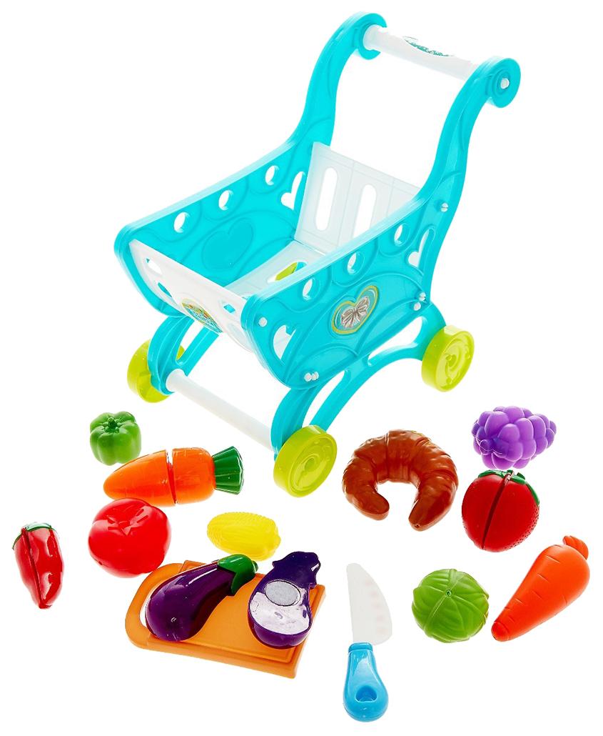 Купить Игровой набор Супермаркет с продуктами Sima-Land, Детские тележки для супермаркета