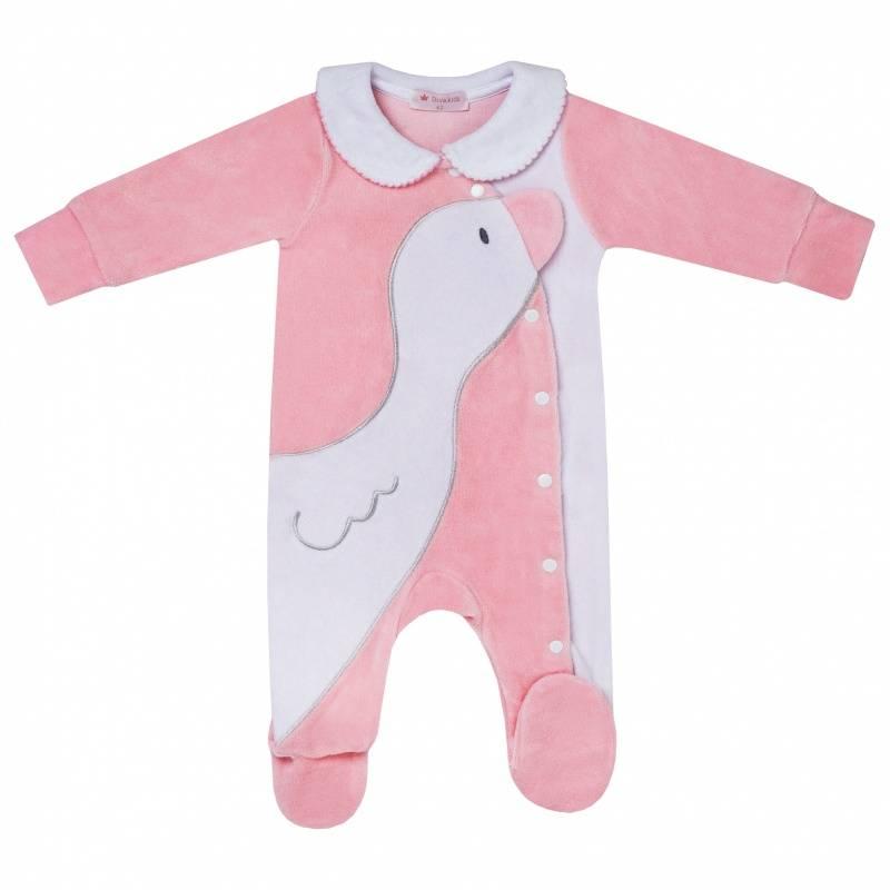 Купить DK-070, Комбинезон Diva Kids, цв. розовый, 68 р-р, Трикотажные комбинезоны для новорожденных