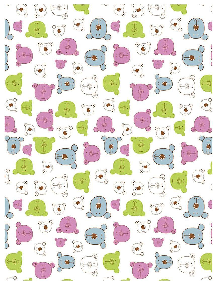 Плед-покрывало Baby Nice Разноцветные мишки на белом 75x100