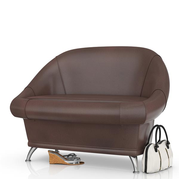 Диван 6-5154 Орион, тёмно-коричневаый, 110х70х80 см