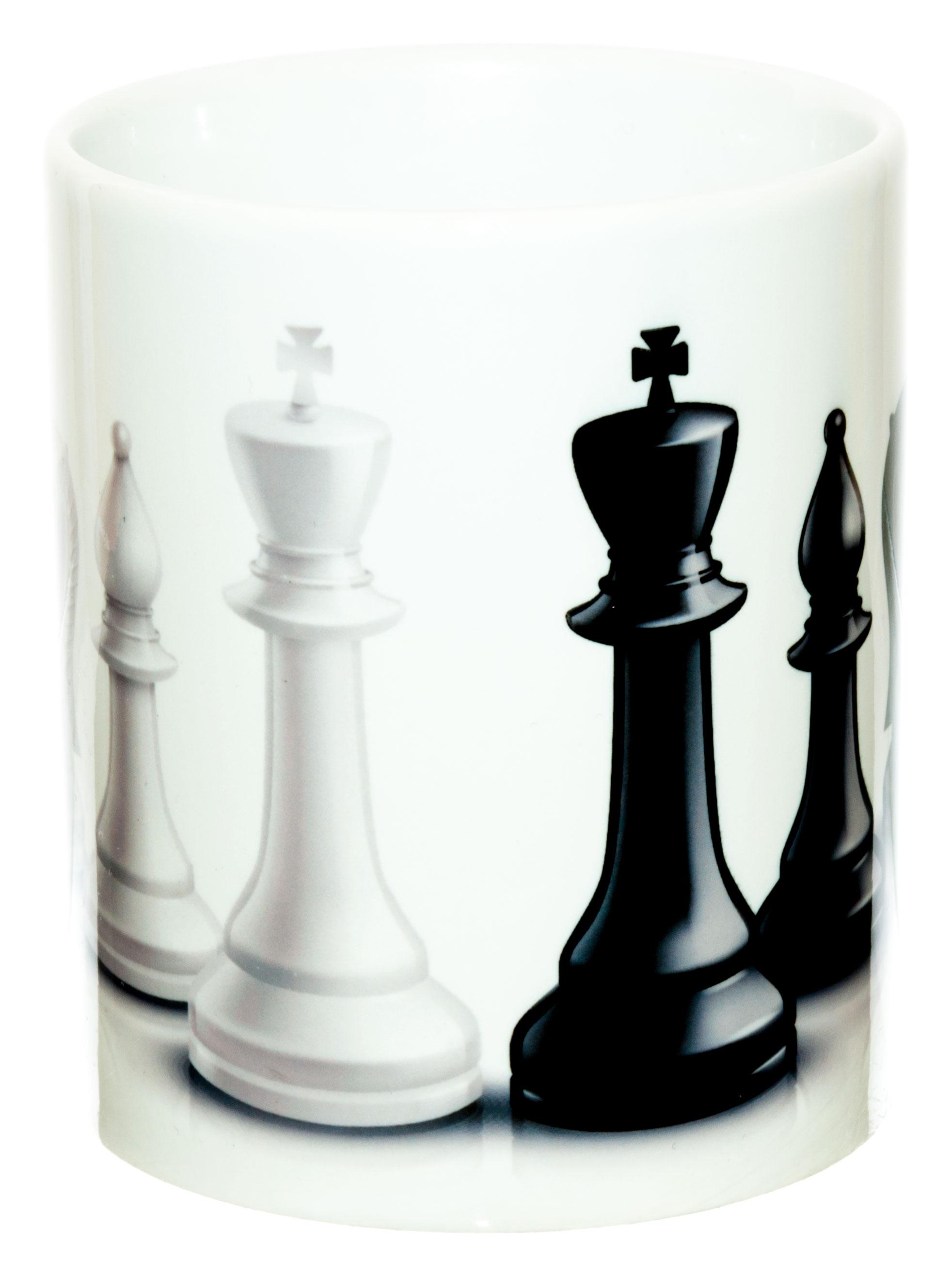 Керамическая кружка 3Dollara Шахматные фигуры. Черное и белое. MUG0341
