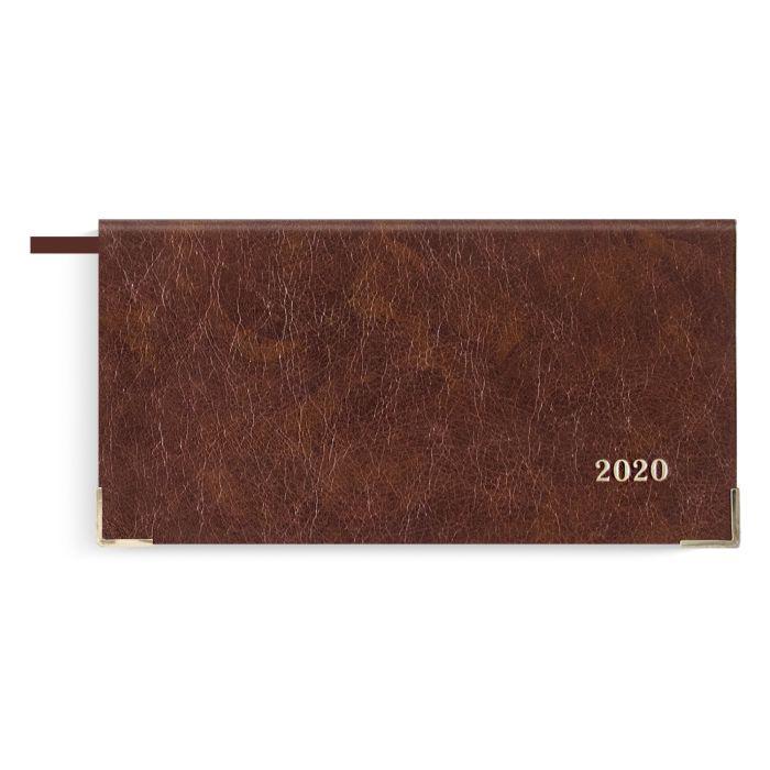 Еженедельник датированный Феникс+ 2020 Сариф коричневый 170 х 88 мм арт. 50132/20