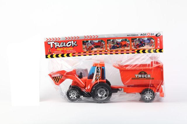 Купить Инерц. Трактор с прицепом. PAC 45*26*13, 5 см. арт. FD602A, Shenzhen Toys, Строительная техника